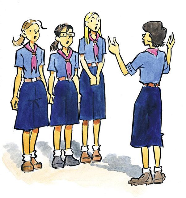 dessin chant scout